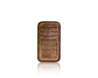 iPhone 6, iPhone 7 RETROMODERN aged leather pocket - - LIGHTBROWN