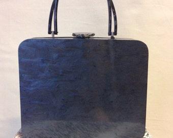 1950s Wilardy Lucite Twist Box Purse