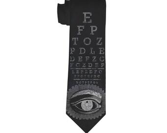 Victorian Eye chart Necktie