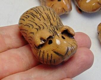 Guinea Pig Miniature - Small Animal Terrarium Miniature - Brown Guinea Pig - Terrarium Miniature Animal -Animal Figurine