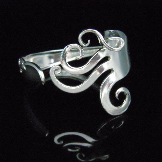 Silver Fork Bracelet in Fancy Design - Antique Silverware Bracelet