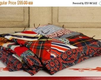 ON SALE Antique Crazy Quilt, Vintage Textiles, Vintage Quilt, Multi-colored Boho Coverlet, Vintage Colorful Bedspread, Home & Living, Home D