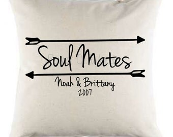 Soul Mates Pillow ~ Personalized Option ~ Valentine's Day