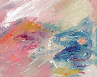 Abstract Expressionist Original Painting -Sugar Rush 12 x 12