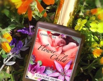 Natural Cologne FLOWER CHILD lavender, ylang ylang, jasmine, mimosa, vanilla bean, patchouli, amber, tangerine