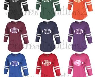 Monogram Football Shirt - Monogram Spirit Jersey - Football Mom Shirt - Personalized Football Shirt