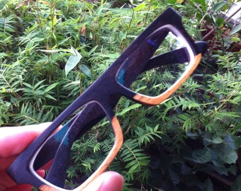 Knight Handmade World's First Two Tone Rosewood Wood Eyeglasses Glasses