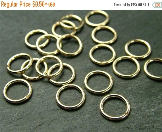 SALE 20% OFF 7mm Open Jump Ring Findings to add to Drops, Charms, Dangles, Pendants in Gold, Silver, Rose Gold & Oxidized Silver