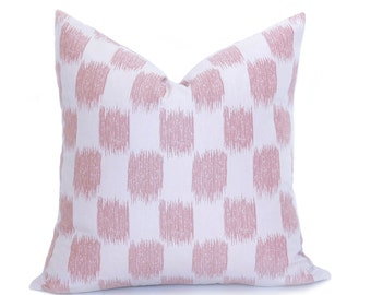 Blush Ikat Dots Pillow Cover - Blush Pillow - Ikat Dots Pillow - Pink Pillow - Light Pink - Decorative Pillow - Designer Pillow - Throw