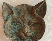 Bronze cat trinket dish