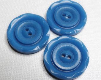 Vintage Blue Dress Buttons