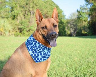 LARGE - Honeycomb Dog Bandana- About 28 Inches.