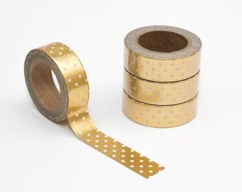 Gold foil polka dot washi tape