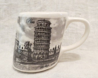 Leaning Tower of Pisa Mug PF Made in Italy (Sketch from 1895)