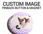 Custom Pinback Buttons Homewares Refrigerator Magnet Personalized Holiday Gifts