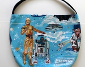 Star Wars Purse or Bag - Empire Strikes Back Darth Vader R2D2 Purse - Shoulder Bag Style - Upcycled from vintage fabric