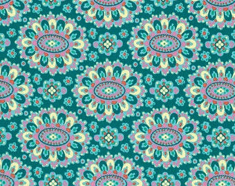 Cloisonne in Lake from the Eternal Sunshine collection by Amy Butler for Free Spirit fabrics