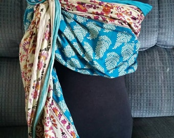 Turquoise flowery Ring Sling