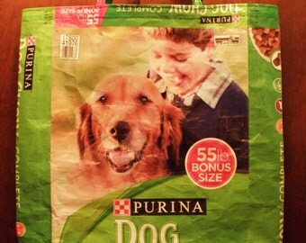VALUE PRICED Totes, 2 Styles, both 2XLarge, Purina Dog Chow Upcycled Recycled Repurposed  Grocery Market Tote or Gift Bag
