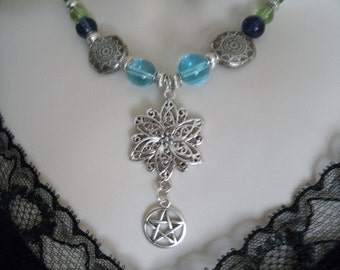 Celtic Mist Pentacle Necklace, wiccan jewelry pagan jewelry wicca jewelry celtic jewelry witch witchcraft pentagram goddess wiccan necklace