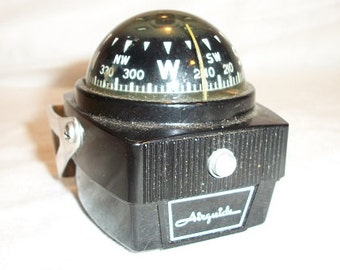 Vintage Black Airguide Compass with Mount