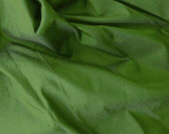 iridescent silk fabric - olive ultramrine shot 100% pure silk - fat quarter sld190