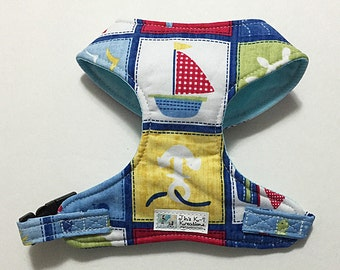 Nautical Comfort Soft Dog Harness - Made to order -