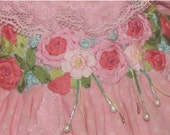 Beautiful Vintage dress for Bleuette silk embroidery