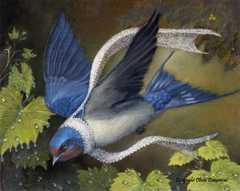 "Barn Swallow - ""Zorion"" - Original Oil"