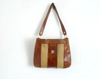 Vintage Handbag EMILIO PUCCI Tawny Soft Leather Shoulder Bag 70s