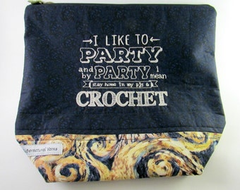 Party...Crochet - Doctor Who - Exploding Tardis Zippered Project Bag