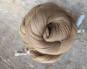 Naturally Dyed with Walnut - Hand Dyed Silk Cashmere Lace Yarn