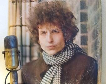 "ON SALE Bob Dylan Vinyl Record Album 1960s Electric Rock Folk Pop Protest, ""Blonde On Blonde"" (1980s Columbia re-issue) Vintage Vinyl LP Rec"