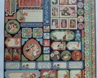 Graphic 45 Children's Hour 12x12 Sticker Sheet