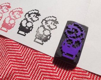 pixel Mario stamp