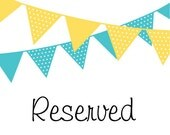 RESERVED FOR MARY - Circus Birthday Banner & Name Banner