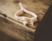 Pastel peach bow tie back Headband
