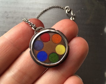 Champleve Color Wheel Necklace