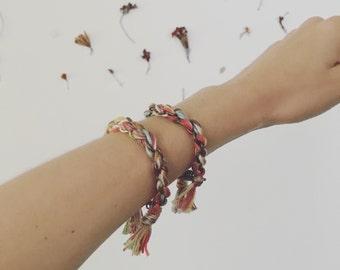 Brass chain braided bracelet Medium