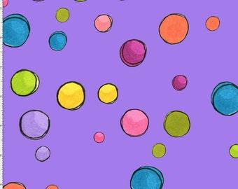 NEW Loralie Designs Blossom Dream Dots Purple fabric - 1 yard