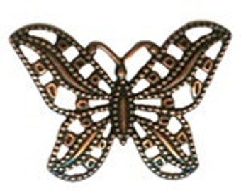 Filigree Butterfly Antique Brass
