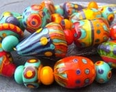 Fruity - Handmade Lampwork Glass Beads (30) by Anne Schelling, SRA