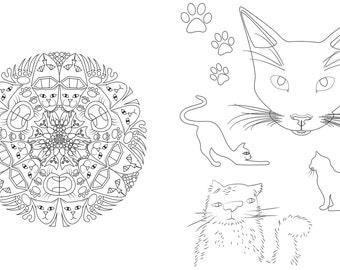 Cat Mandala Etsy