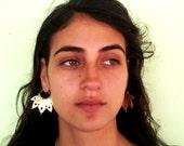 Brass Earrings - Tribal Earrings - Ethnic Earrings - Gypsy Earrings - Brass Jewelry - Ethnic Jewelry - Tribal Jewelry - (code er020)