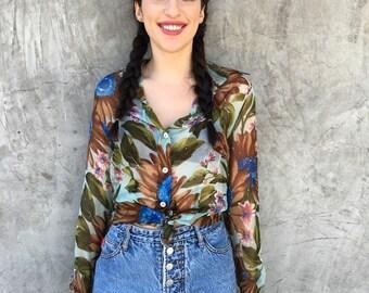 Vtg Dolce & Gabbana Silk Blouse