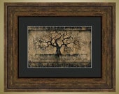 PRINT or GICLEE Reproduction -- Inspirational Quote, Even in Darkness, Tree Art-- by Britt Hallowell