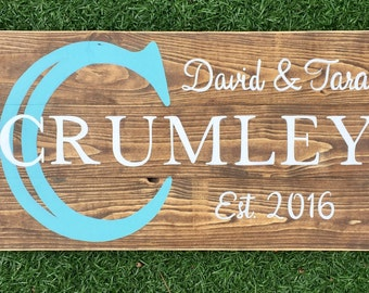 Made to order family name wood sign
