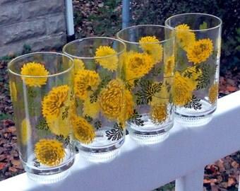 Retro Vintage Floral Glasses 1970s