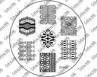 Nail stamping plate - EDM01