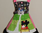 Mickey and Minnie Watch the Fireworks Dress Ready to Ship size 6 7 8